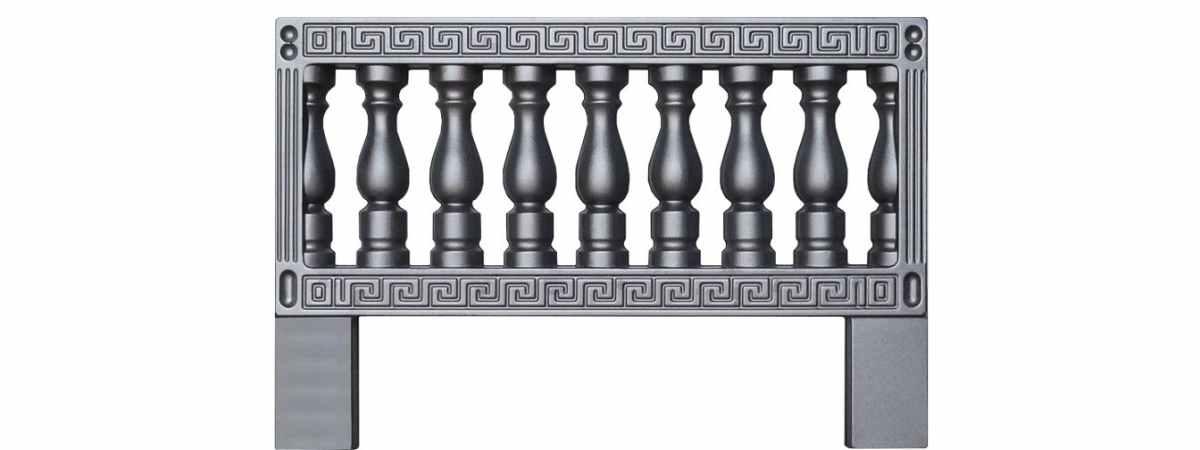Форма для оградки №9-А для двухсторонних форм Размеры 1000х650х20 мм