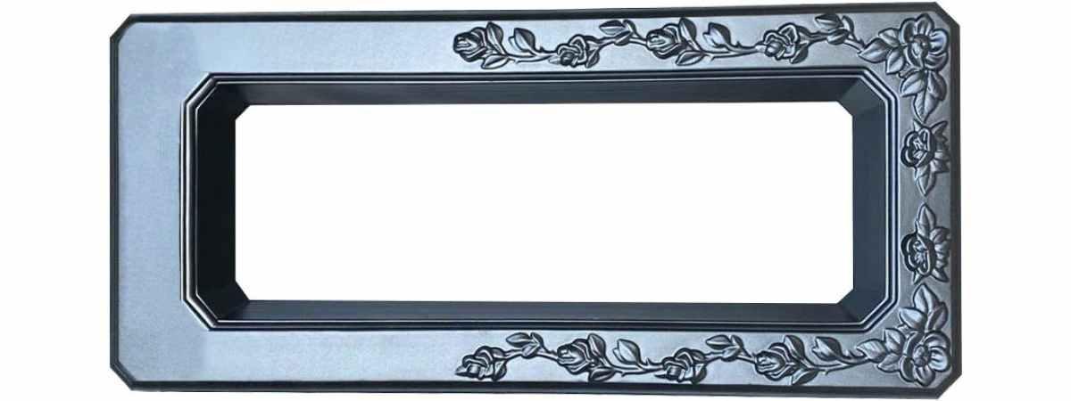 Форма для памятника Цветочница №109.1 Размеры 1360х580х110/90 мм