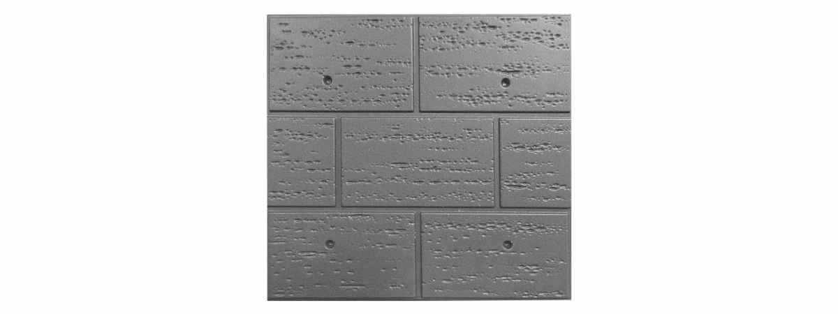 Форма для полифасада №21 Размеры 500х500х18 мм