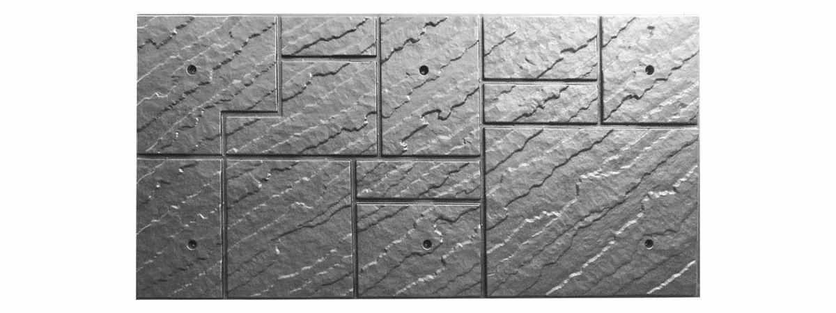 Форма для полифасада №23 Размеры 1000х500х20 мм