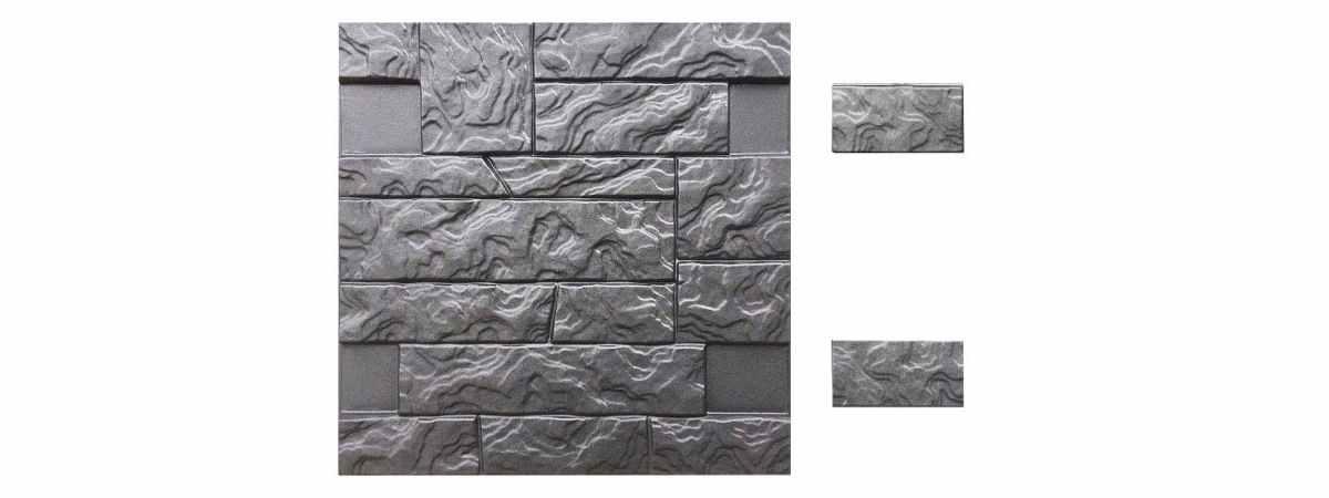 Форма для полифасада с доборными элементами №29 Размеры 500х500х18 мм