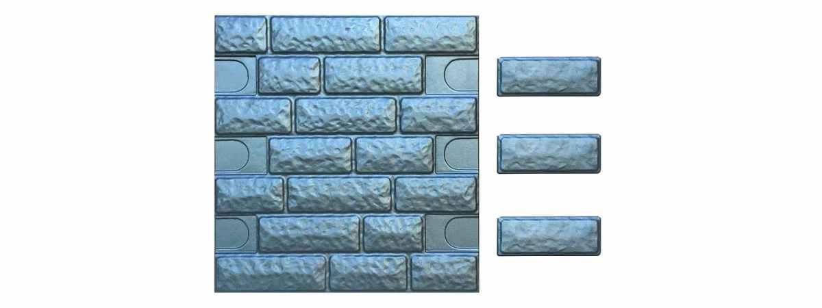 Форма для полифасада с доборными элементами №39 Размеры 500х500х18 мм