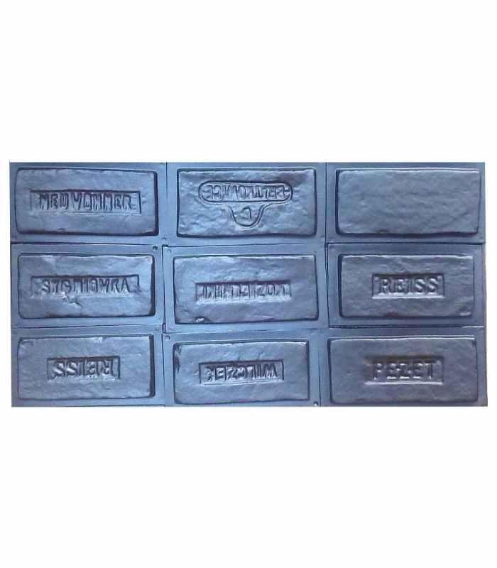 Форма для полифасада , фасадной плитки №45 - комплект из 9 штук
