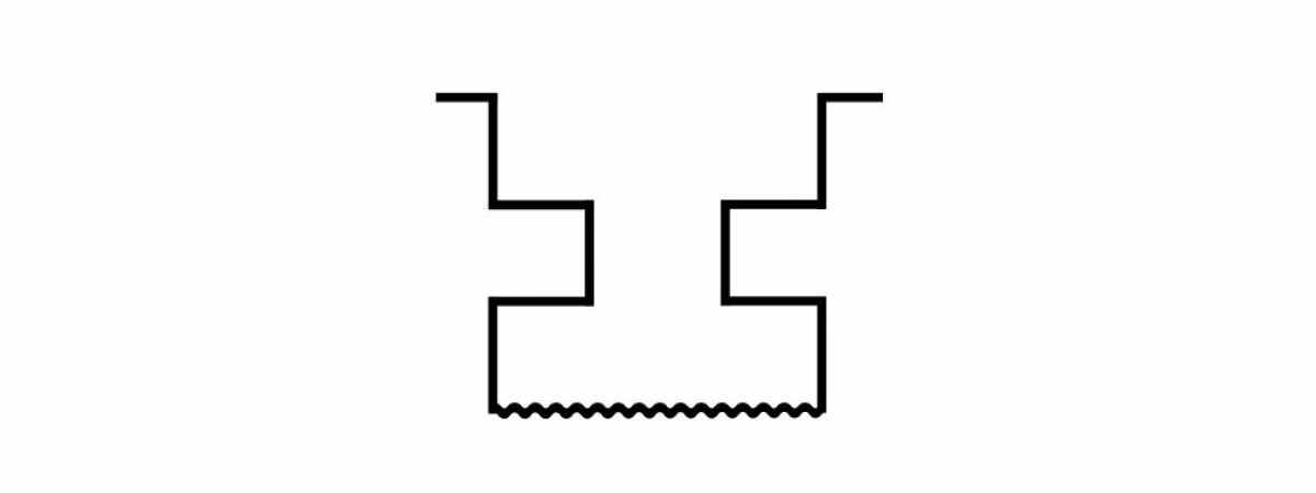 """Форма для столба """"Ломаный кирпич"""" распашная №11 с пазами"""