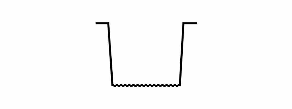 """Форма для столба """"Руст"""" №13 без пазов Размеры 2800х125х125 мм"""