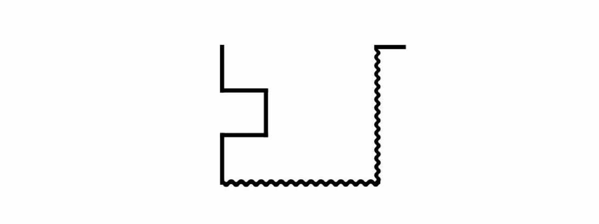 "Форма для столба Угловой ""Ломаный кирпич"" распашная №26 с пазом Размеры 2850х150х150 мм"