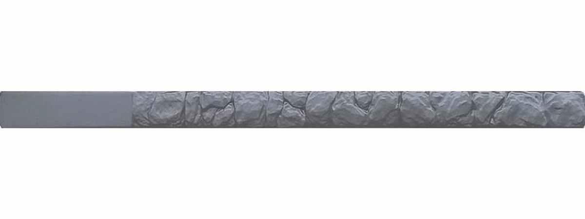 """Форма для столба """"Бутовый камень"""" №6 без пазов Размеры 2800х125х125 мм"""