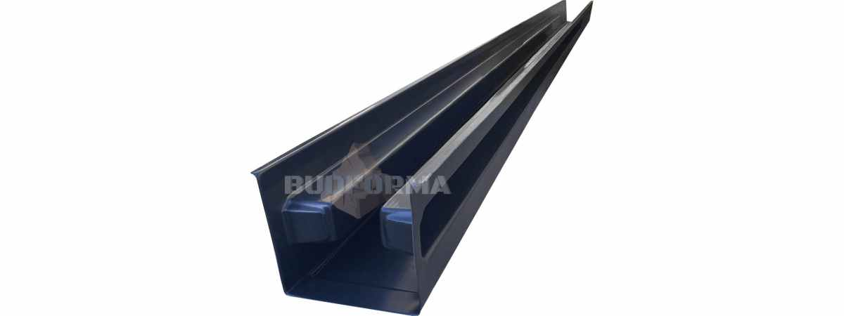 Форма для столба Гладкая распашного типа №37 Размеры 2800х125х125 мм