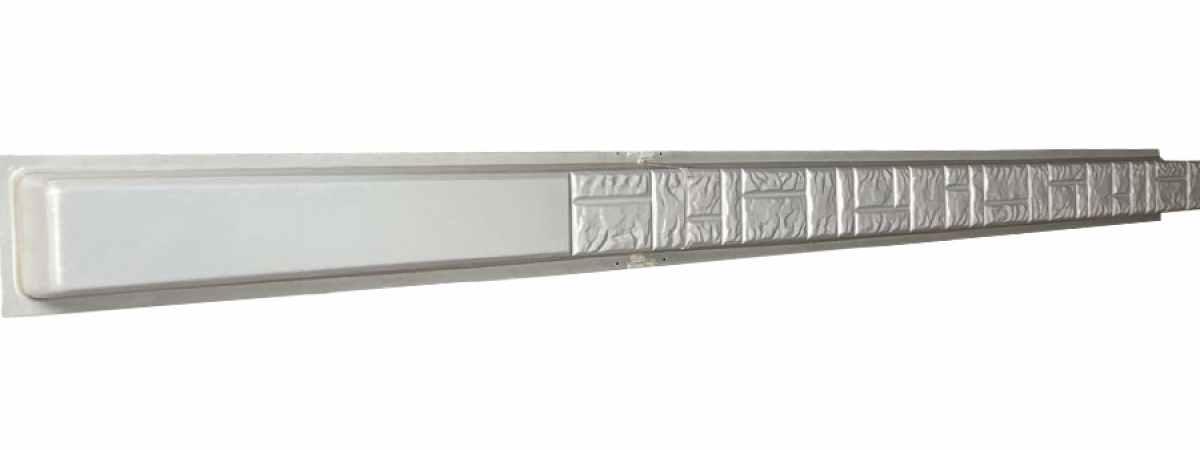 """Форма для столба """"Колотый камень"""" склеенный без пазов Размеры 2800х125х125 мм"""
