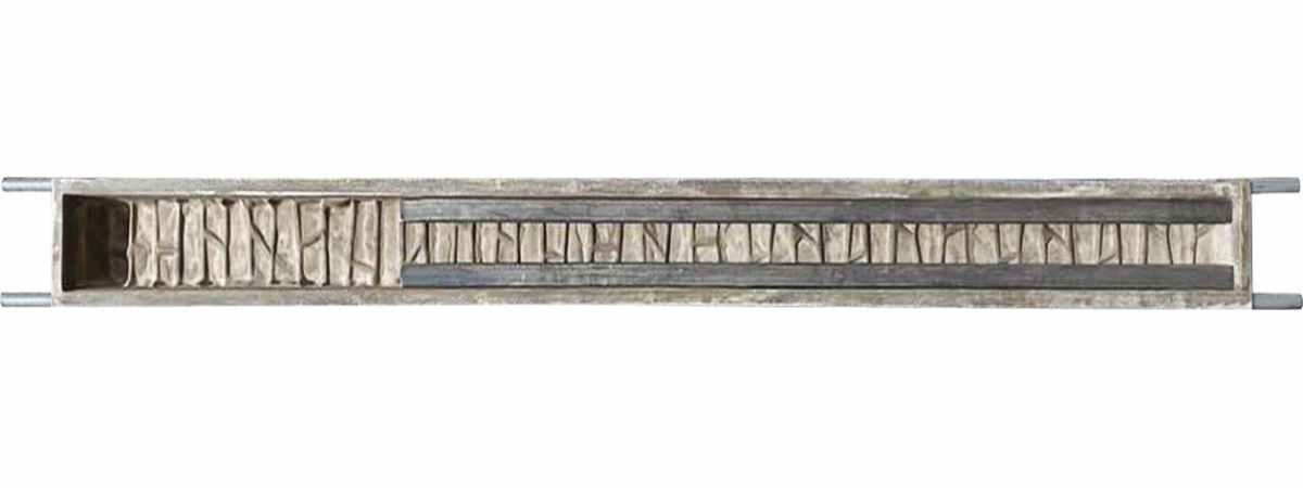 "Форма столба из стеклопластика №47-б ""Ломаный кирпич"" Размеры 1500х145х155 мм Длина паза 1000мм"