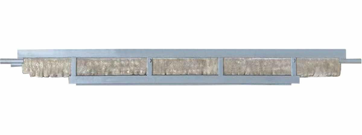 "Форма столба из стеклопластика №19-a ""Кирпич"" Размеры 2700х225х240 мм Длина паза 2000мм"