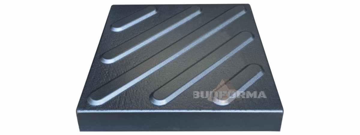 Форма для тротуарной плитки Поворот №17 Размеры 300х300х40 мм