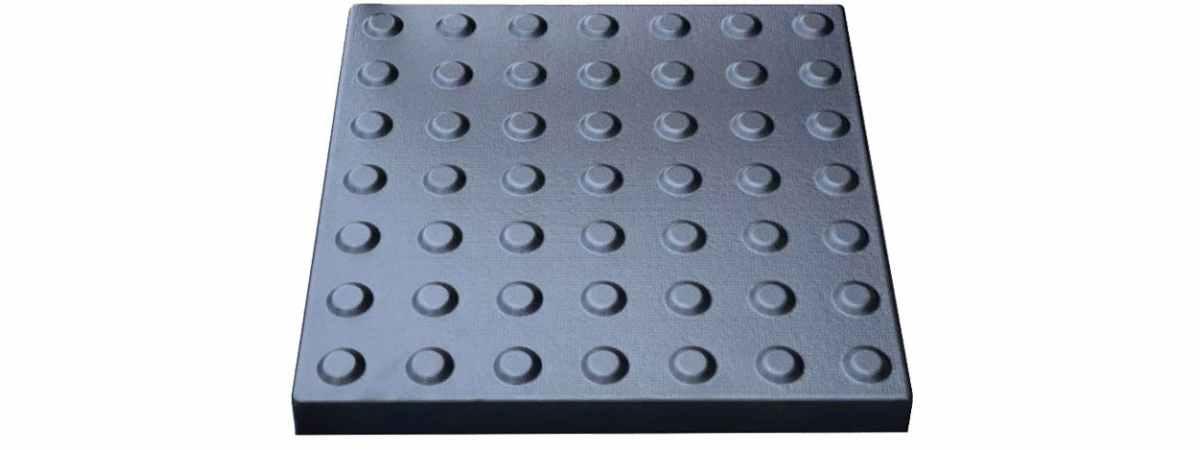 """Форма для тактильной плитки """"Внимание"""" №25 Размеры 400х400х40 мм"""