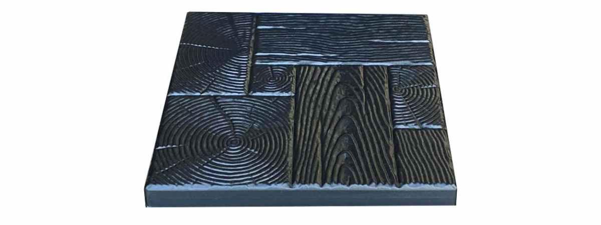 """Форма для тротуарной плитки """"Дерево"""" №11 Размеры 400х400х40 мм"""