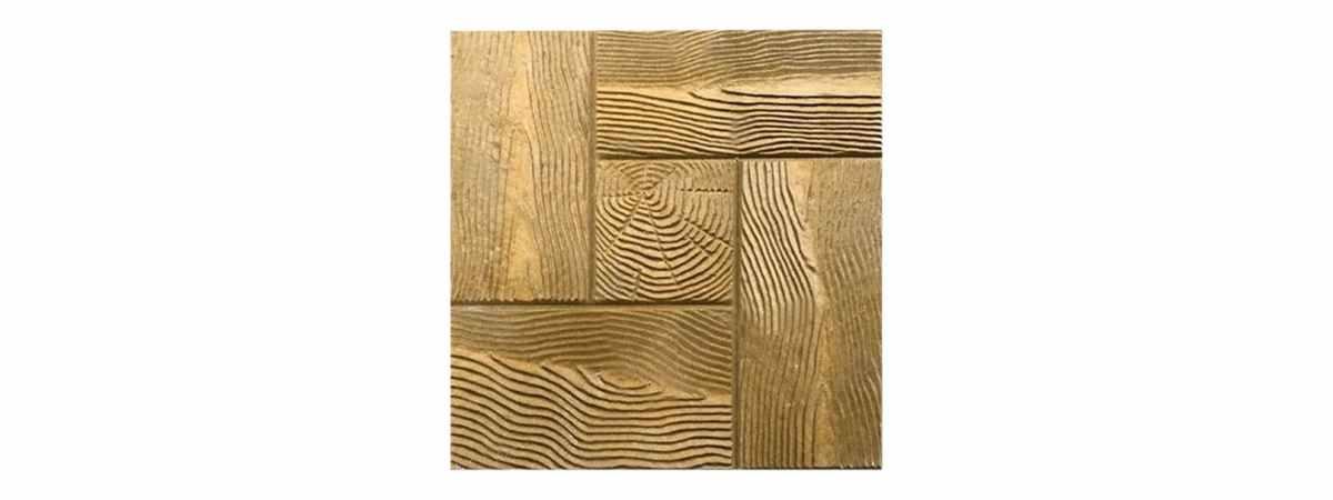 """Форма для тротуарной плитки """"Дерево"""" №18 Размеры 400х400х40 мм"""