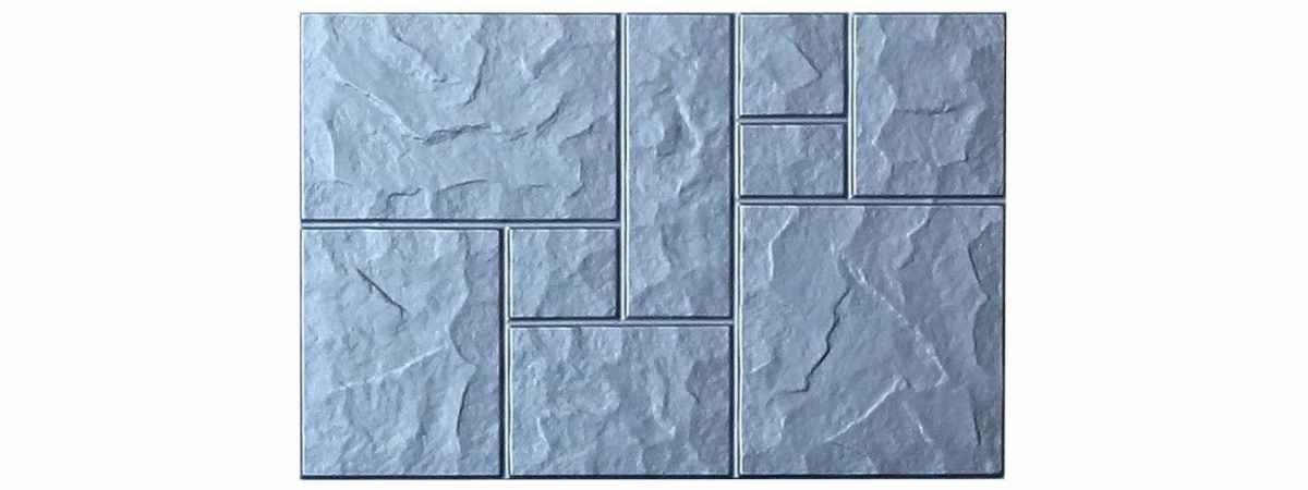 "Форма для тротуарной плитки ""Колотый камень"" №3 Размеры 750х500х80 мм"
