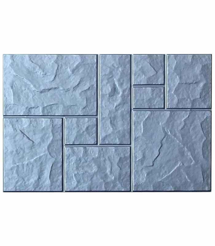 """Форма для тротуарной плитки """"Колотый камень"""" №3"""