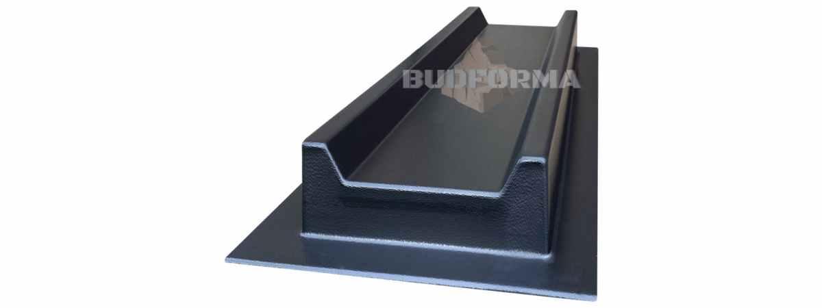 Форма для отлива водостока с прямоугольным желобом №4 Размеры 500х160х50 мм