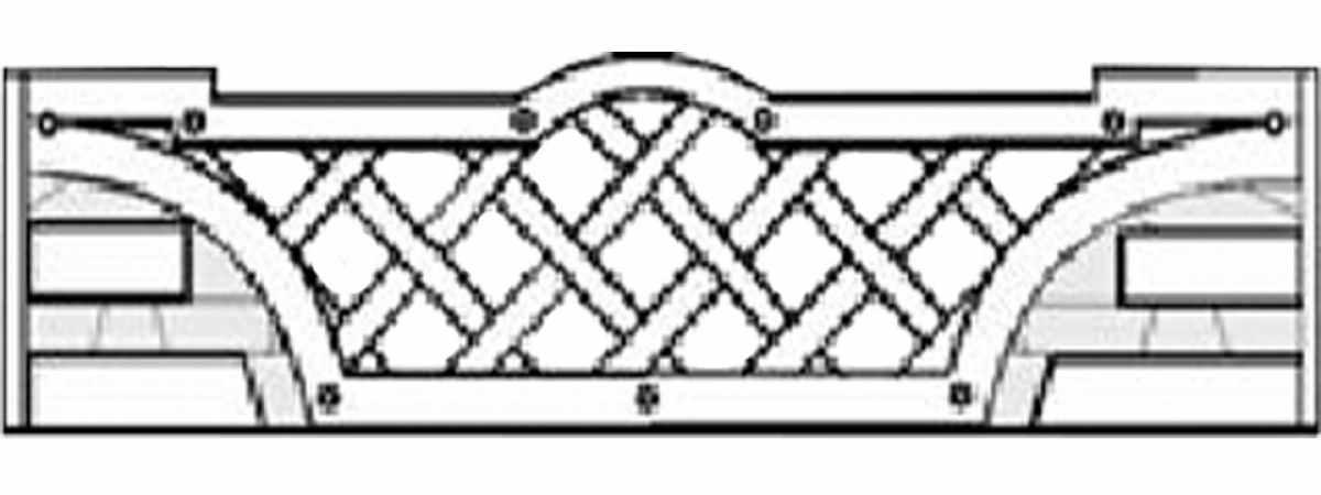 Форма забора АБС №1.021.24 Размеры 2000х500х40 мм