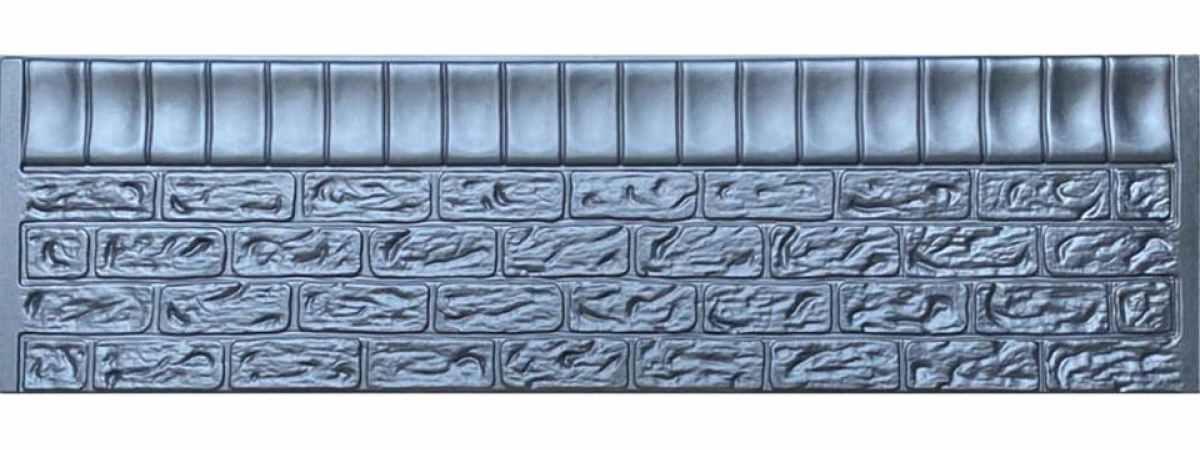 Форма для забора ПВХ №115 Размеры 2000х500х40 мм