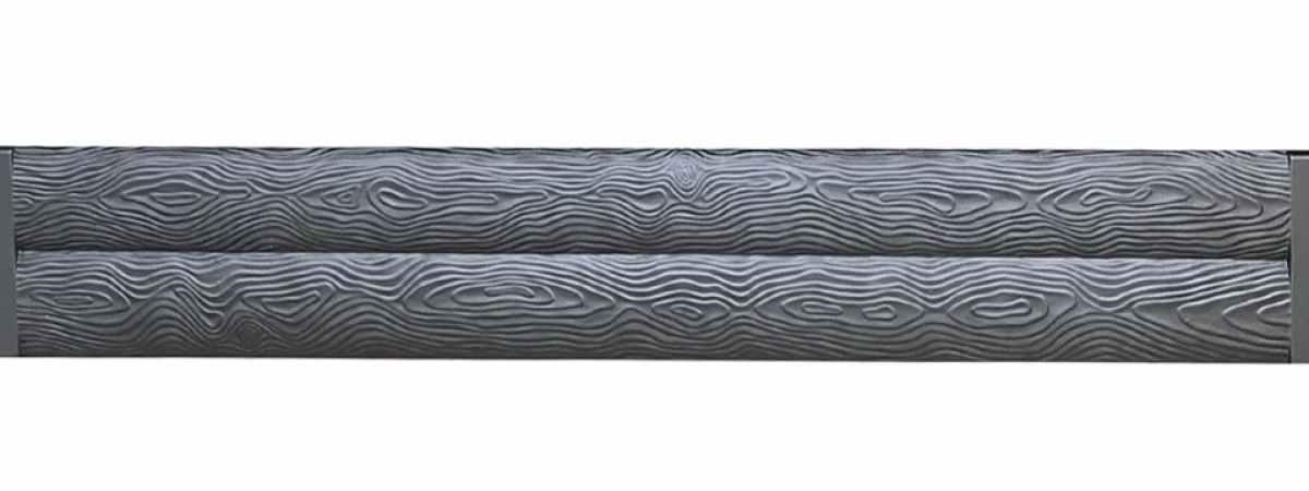 Форма для забора двустороннего ПВХ №120 пара Размеры 2000х250х25 мм