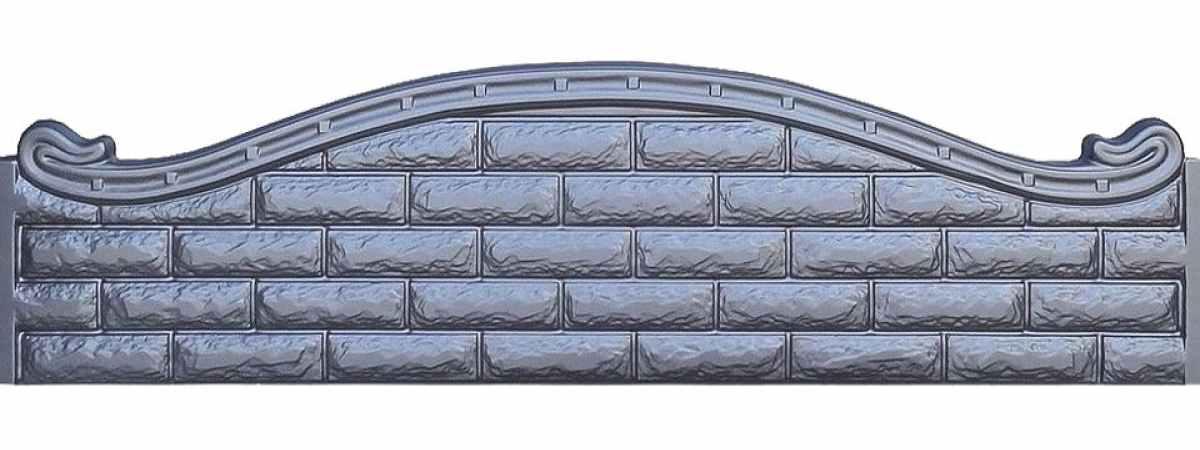 Форма для забора ПВХ №42 Размеры 2000х500х40 мм