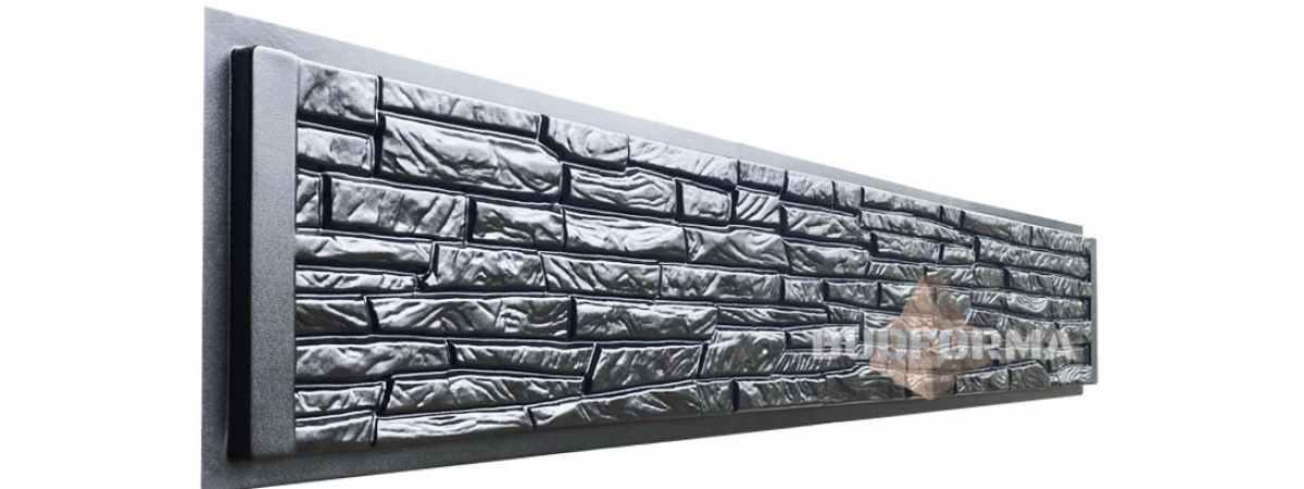 """Форма для забора """"Скала"""" АБС №145 Размеры 2000х300х40 мм"""