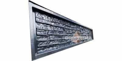 """Форма для забора """"Песчаник"""" АБС № С-2 Размеры 2500х300х50;40 мм"""