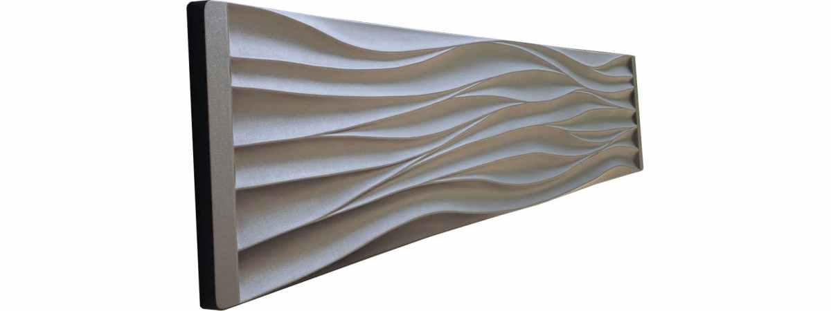 """Форма для забора """"Волны"""" АБС №123 Размеры 2000х500х40 мм"""