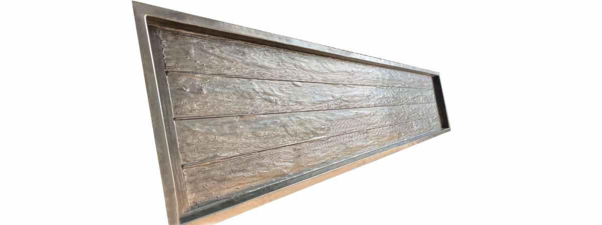 """Форма для забора """"Дерево антик"""" АБС №137 Размеры 2000х500х40 мм"""