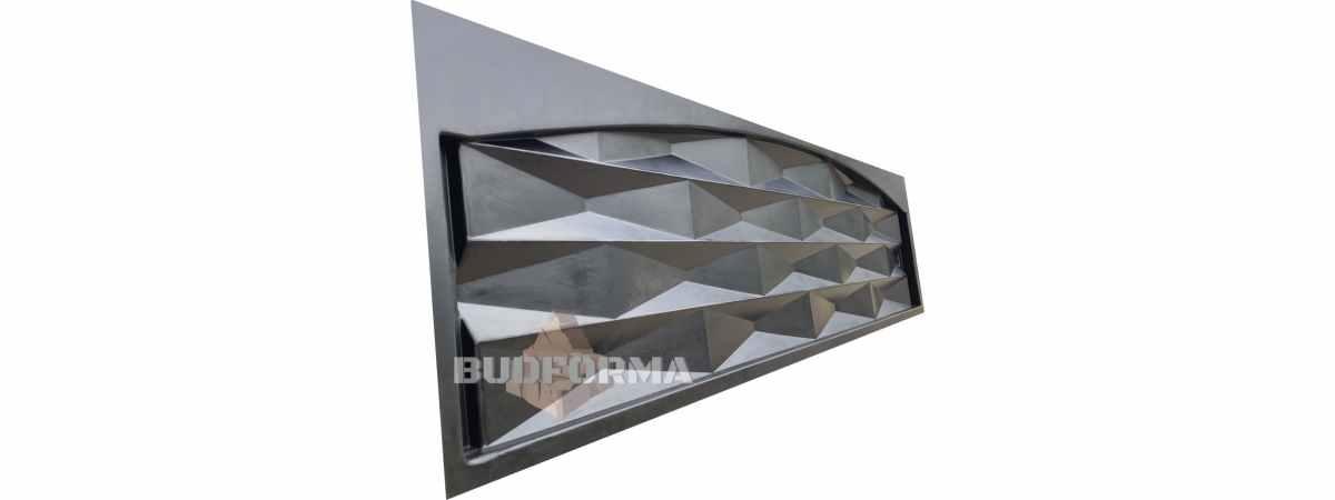 "Форма для забора ""Пирамида верх"" АБС №139 Размеры 2000х500х40 мм"