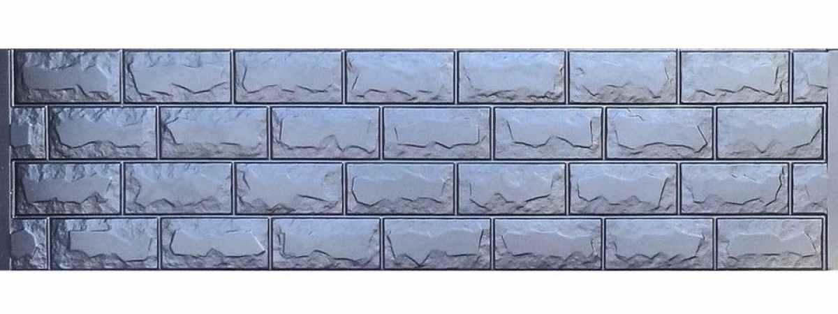 Форма для забора АБС №2 Размеры 2000х500х40 мм