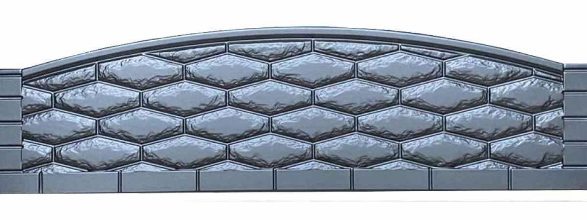 Форма для забора АБС №23 Размеры 2000х500х40 мм