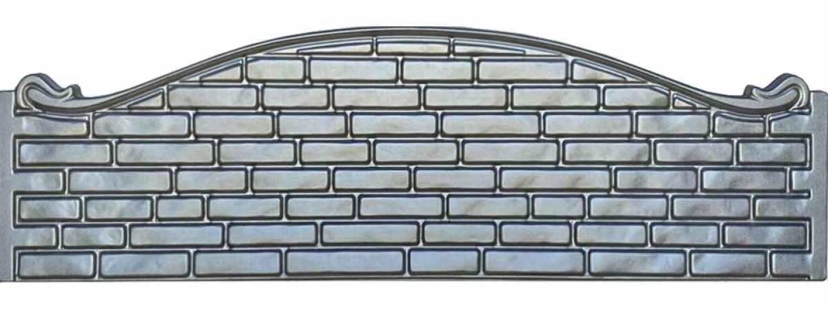 Форма для забора АБС №27 Размеры 2000х500х40 мм