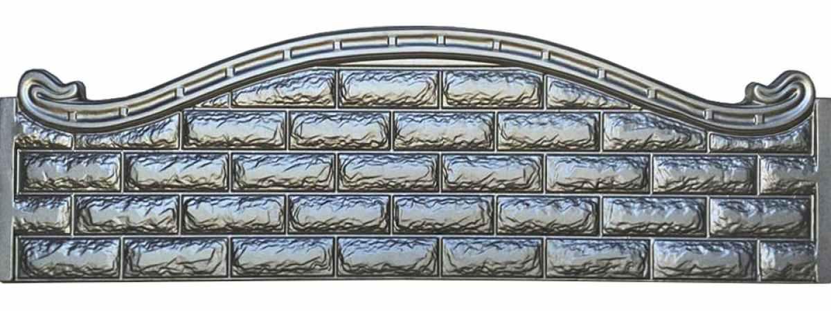 Форма для забора АБС №42 Размеры 2000х500х40 мм
