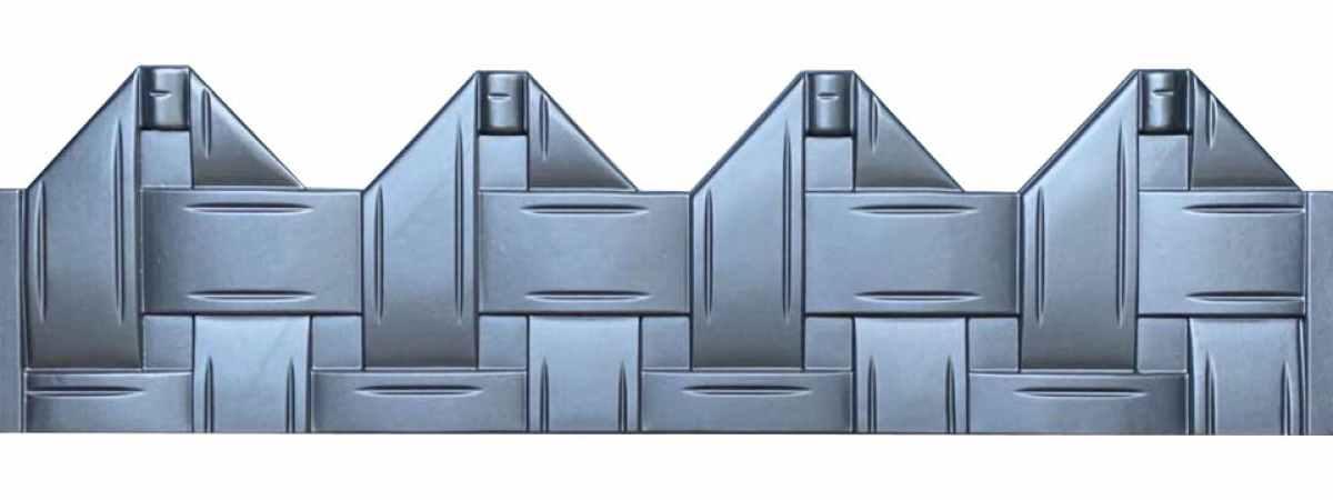 Форма для забора АБС №49 Размеры 2000х500х40 мм