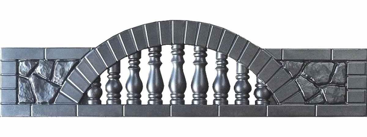 Форма для забора АБС №6 Размеры 2000х500х40 мм
