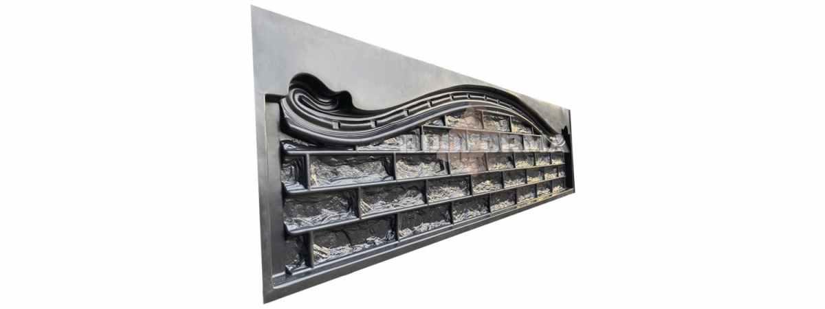 Форма для забора АБС «Фагот скала верх» №89 Размеры 2000х500х40 мм