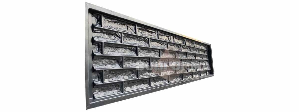 Форма для забора АБС «Фагот скала » №99 Размеры 2000х500х40 мм
